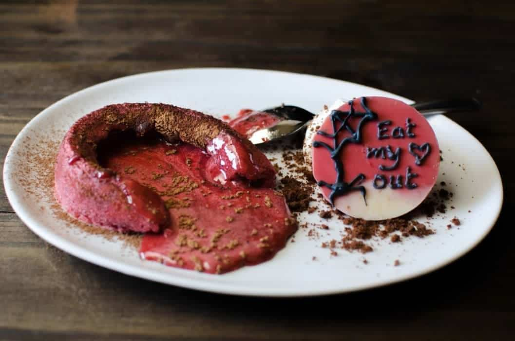 The Bleeding Heart Cake – Raspberry and White Chocolate Lava Cake