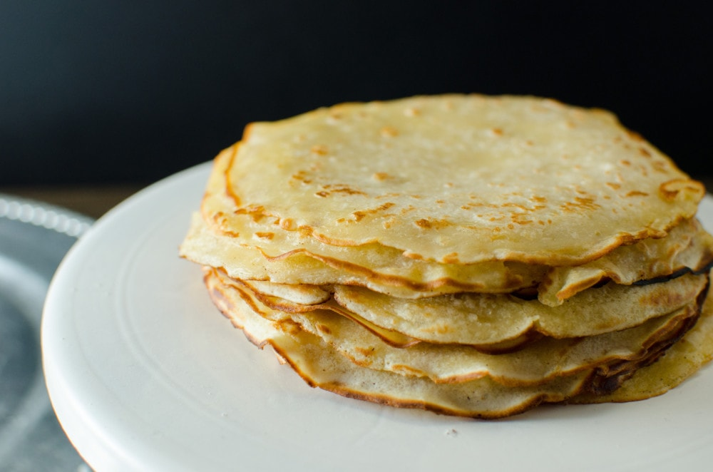 Vegan Crepes - Light Fluffy Crepes perfect for Crepe Cakes or any dessert!