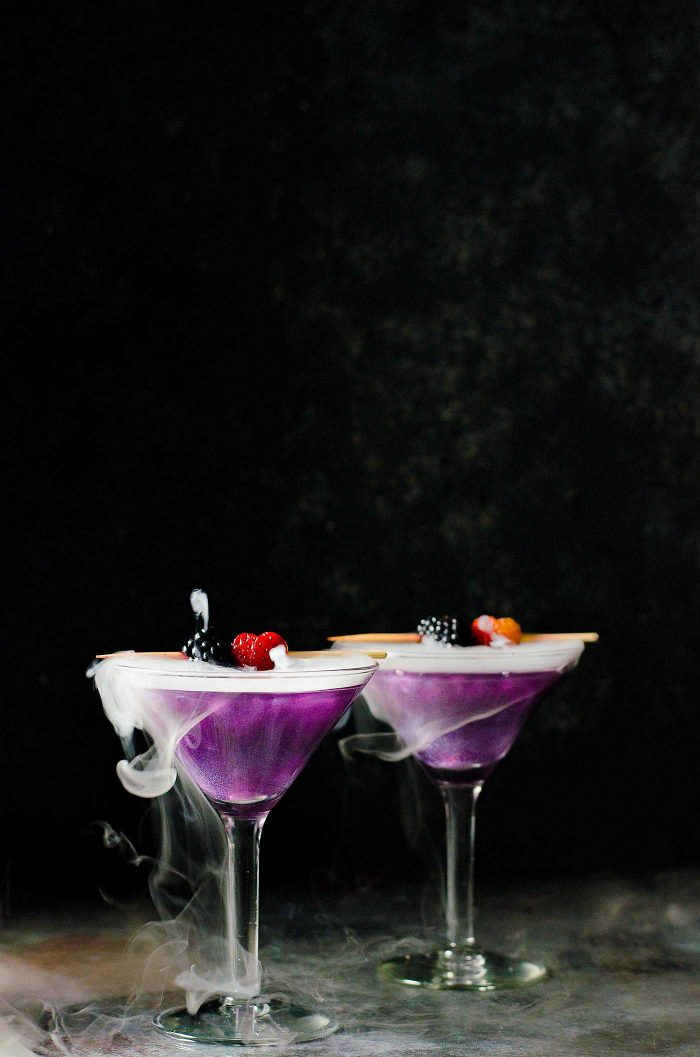 the witchs heart cocktail a dreamy whimsical and magical halloween cocktail made with blackberry