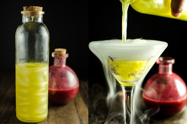 How to make Shimmery Liqueur - Give your cocktails a magical makeover with this homemade Shimmery Liqueur! You can get the luster effect in your cocktails just like Viniq!