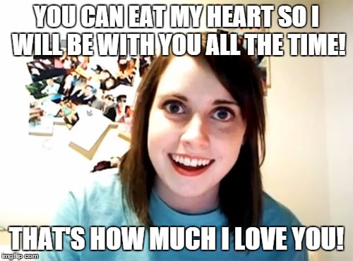 The Bleeding Heart Cake from the Overly Attached Girlfriend