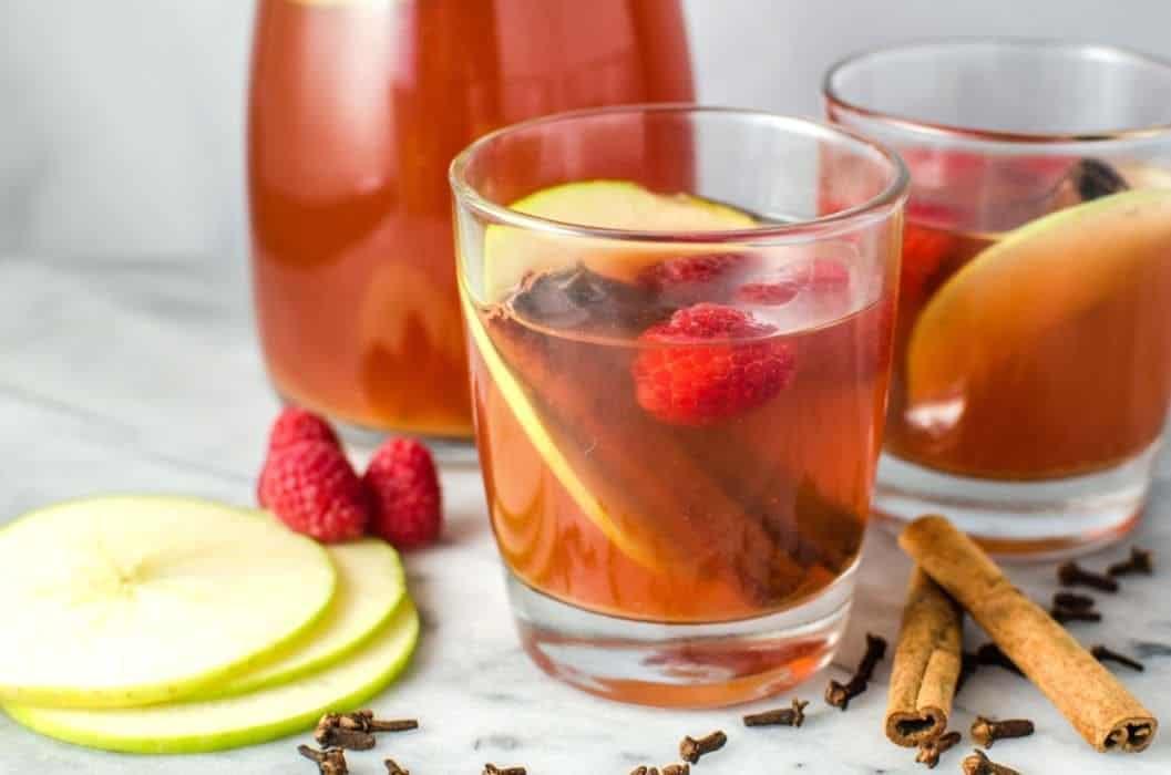 Spiced Raspberry Apple Cider