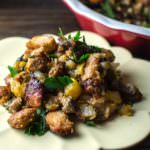 Pear, Sage and Sausage Stuffing