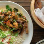 Asian-style Steamed Shrimp and Mushroom Parcels