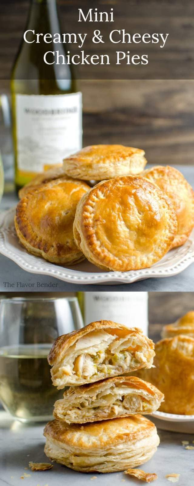 Mini Creamy and Cheesy Chicken Pies - The perfect snacks for the Big Game (or any party!). Tastes like mini Chicken Pot Pies but better! Plus learn how to pair these with the perfect wine. #sponsored #flavorsofthegame #collectivebias Msg 4 21+