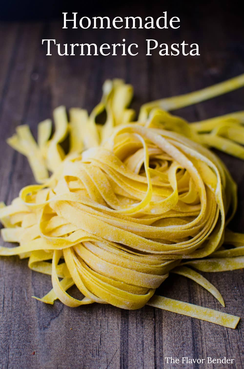 Homemade Turmeric Pasta - Bright yellow, smoky turmeric infused into homemade pasta dough. Fun to make and gives your pasta a delicious smoky flavor with a pleasant, slight bitterness.