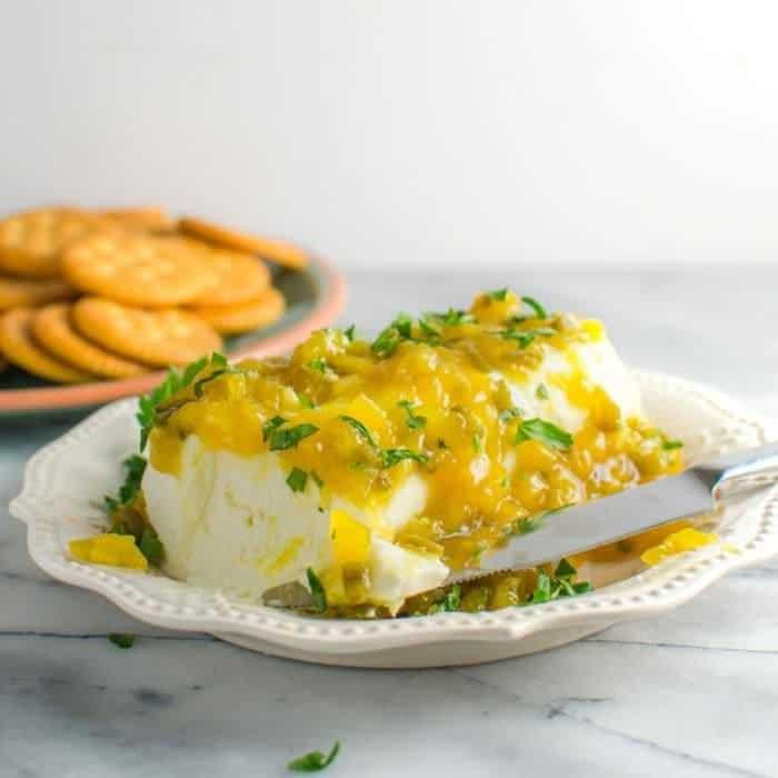 Mango Jalapeno Jam (and Cream Cheese Dip)