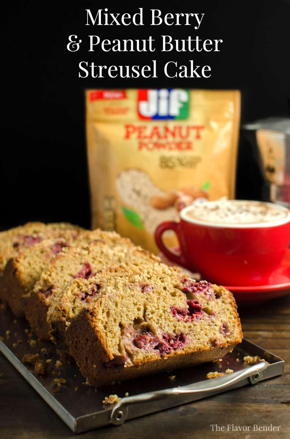 Easy to make Mixed Berry and Peanut Butter Streusel Cake made with ...