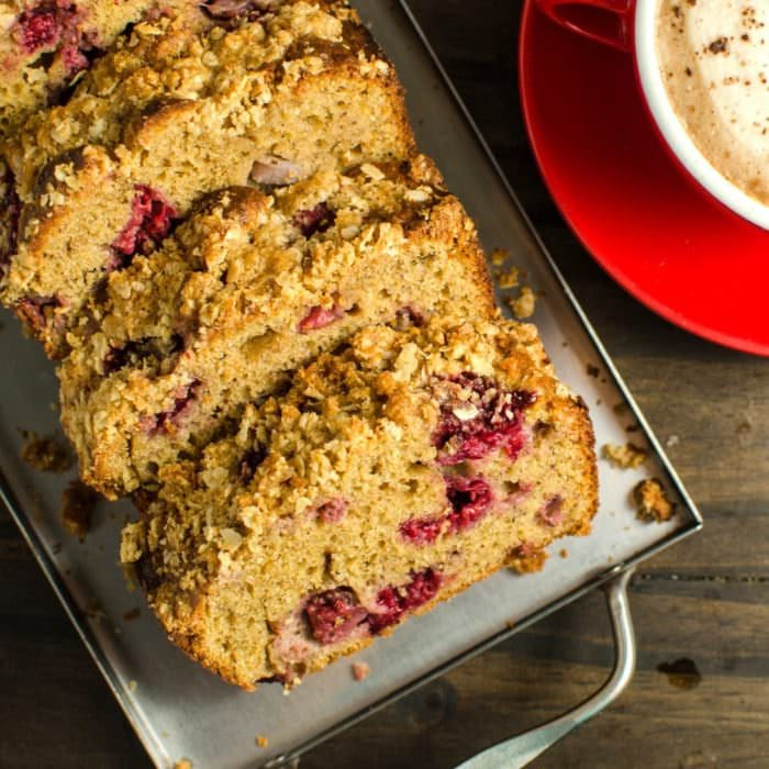 Easy to make Mixed Berry and Peanut Butter Streusel Cake made with Peanut Powder! A delicious cake perfect for breakfast or to enjoy with coffee or tea in the afternoon! Perfectly sweet and a great twist on Peanut Butter and Jelly!