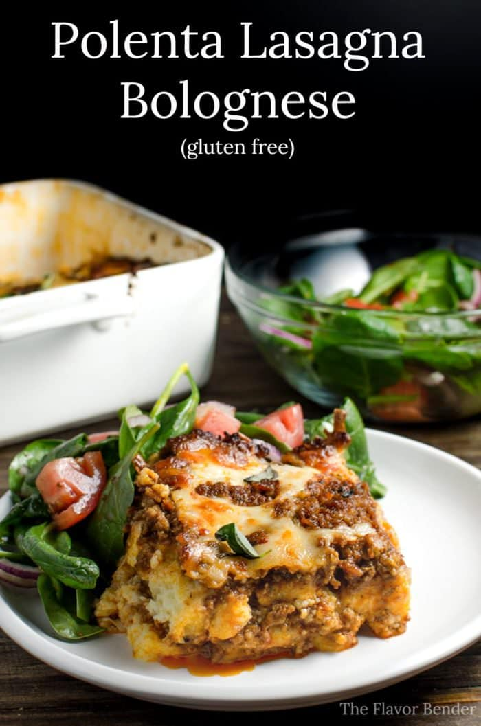 Polenta Lasagna Bolognese - Gluten free, Freezer Friendly with hidden vegetables! #simmeredintradition