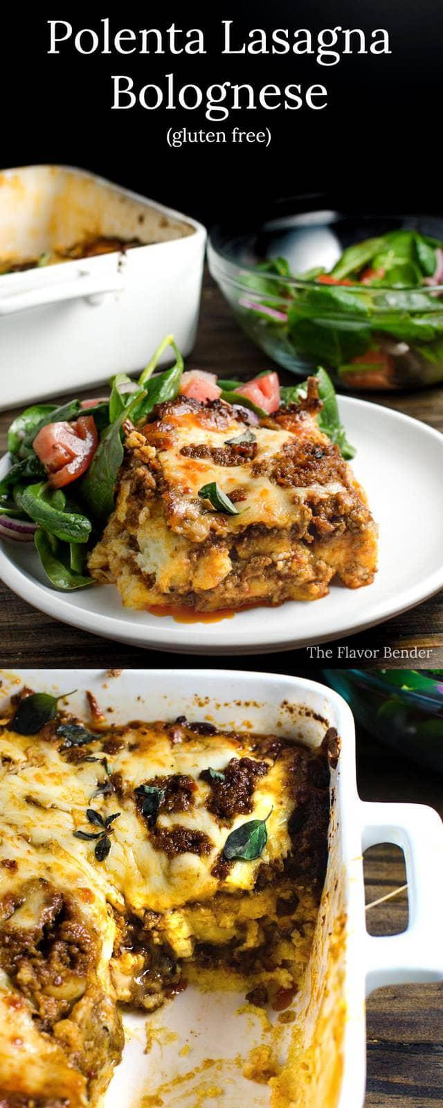 Polenta Lasagna Bolognese - This gluten free, delicious family recipe ...