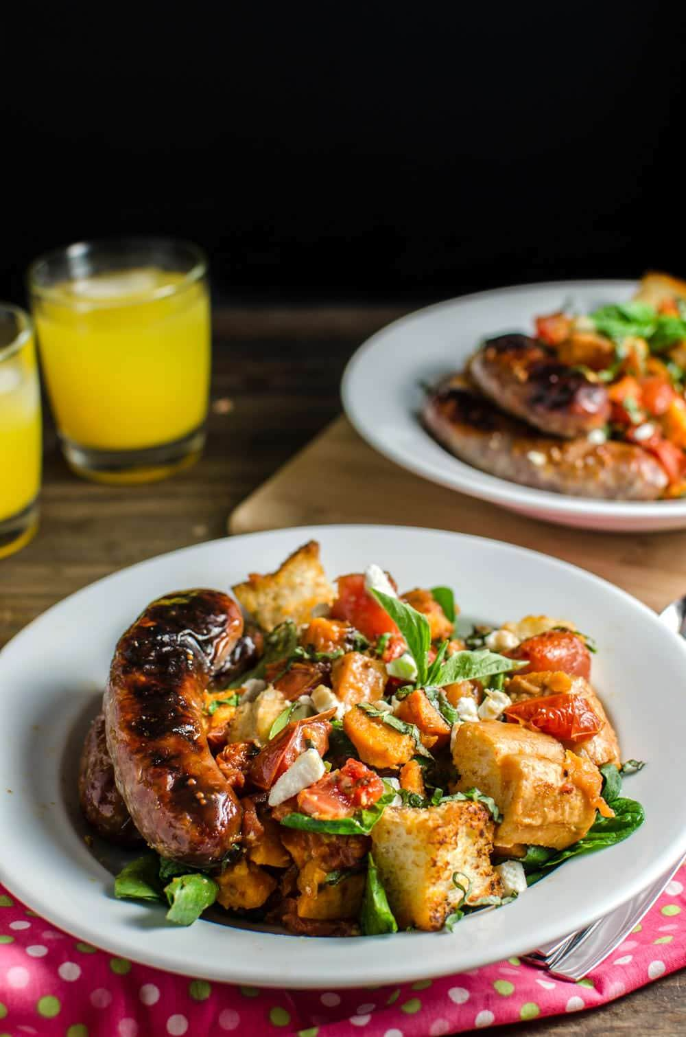 Roasted Panzanella Salad with a Balsamic Honey Mustard Dressing- with ...