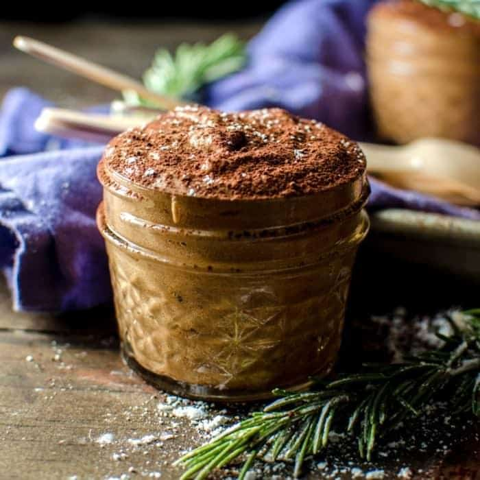 Rosemary infused French Chocolate Mousse