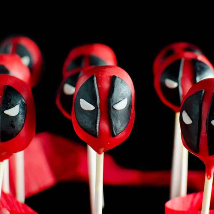 Funfetti Deadpool Cake Pops