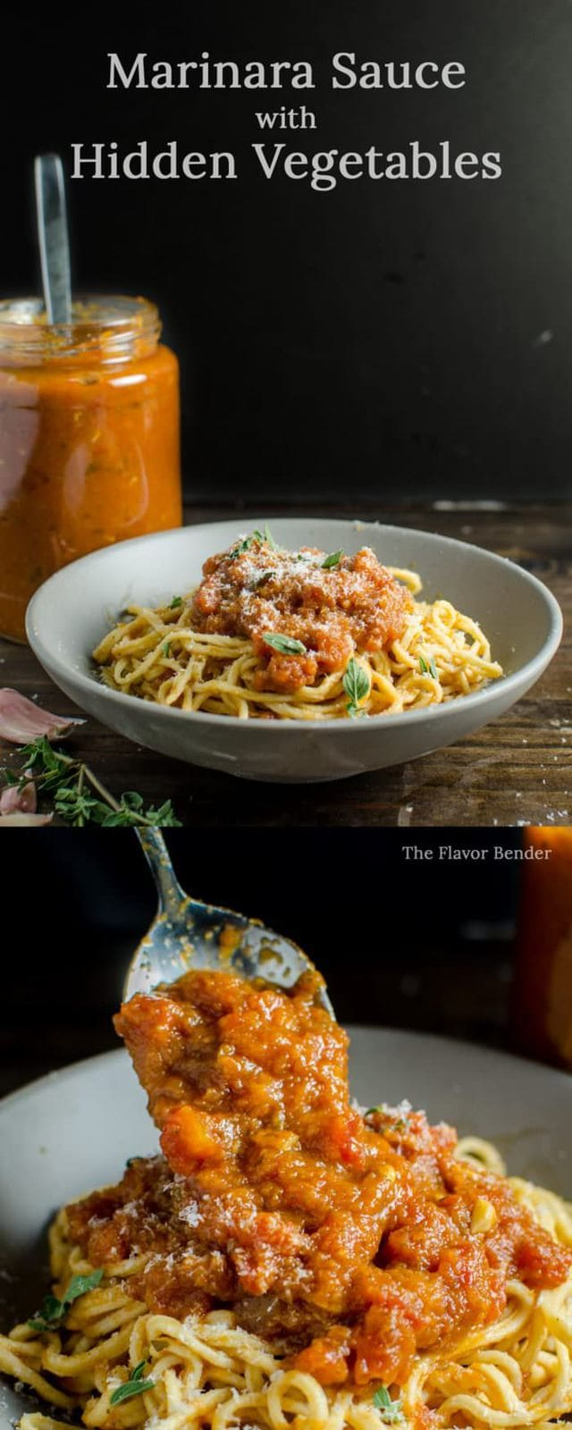 Marinara Sauce with Hidden Vegetables - This Marinara Sauce can be used as Pasta Sauce, Base for Bolognese, Dipping Sauce OR Pizza Sauce! So Versatile and packed with flavor and HEAPS of nutrition!