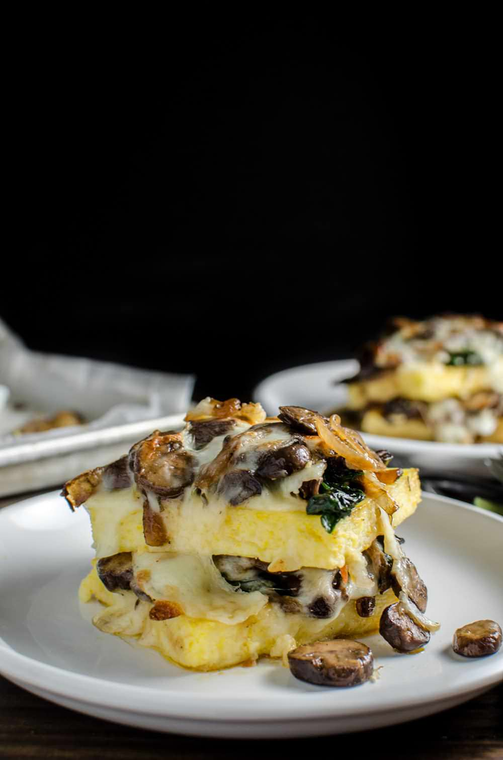 polenta stacks with spinach and cheese should absolutely be on your ...
