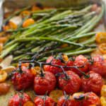 Brown Butter Roasted Tomatoes, Asparagus and Kumquats