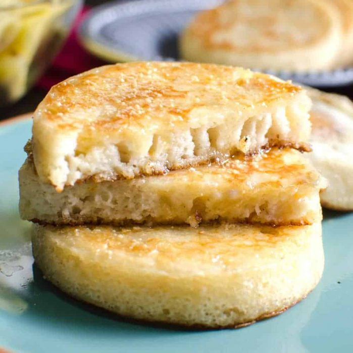 Crumpets with Honey and Coconut - These are the BEST gluten free or ANY kind of crumpet you'll ever eat! Reminiscent of a Sri Lankan Hopper, but far easier to make. Even better with an Egg cooked IN IT! - Click to get the recipe or pin it for later!