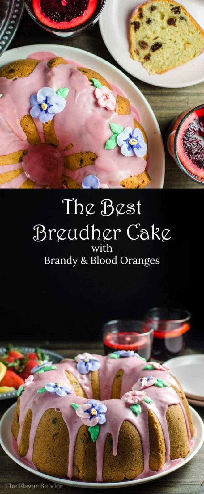 Sri Lankan Breudher Cake with a Blood Orange glaze- a sweet yeasted cake that is PERFECT for Celebrating Easter! A touch of sweetness, buttery and rich yeasted cake studded with raisins, from my childhood, with an extra dose of brandy and blood orange!