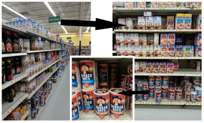 Where you can find Quaker Oats