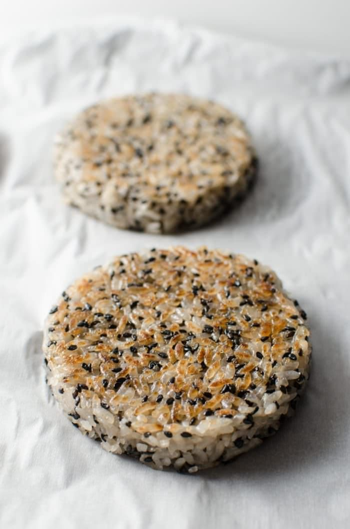 Chicken Katsu Sushi Burger - This Rice burger is acreative and incredibly delicious marriage of two distinct Japanese dishes. CLICK to get the RECIPE. REPIN to save. #TheFlavorBender