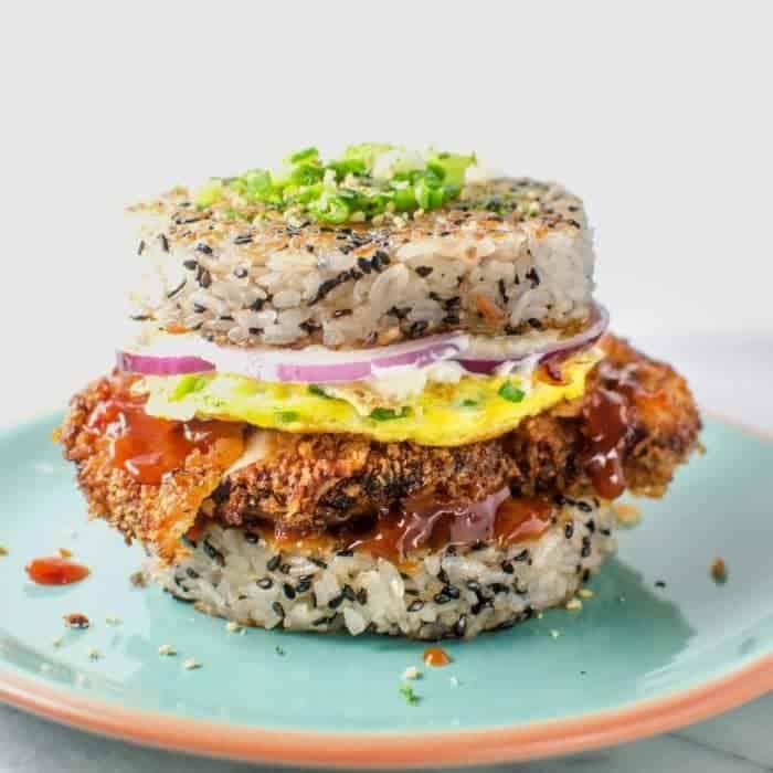 Chicken Katsu Sushi Burger