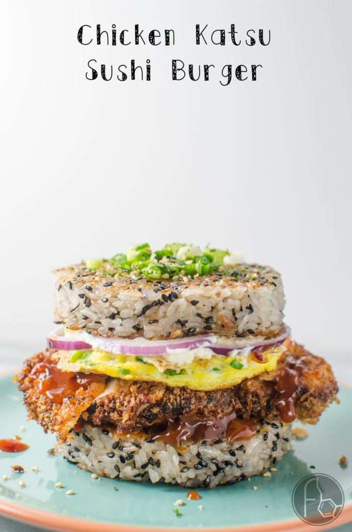 Chicken Katsu Sushi Burger - This Rice burger is a creative and incredibly delicious marriage of two distinct Japanese dishes. CLICK to get the RECIPE. REPIN to save. #TheFlavorBender
