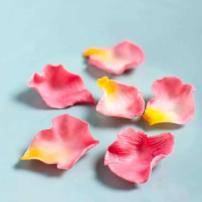 How to make Edible Fondant Rose Petals