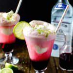 Hibiscus Strawberry Margarita Ice Cream Float