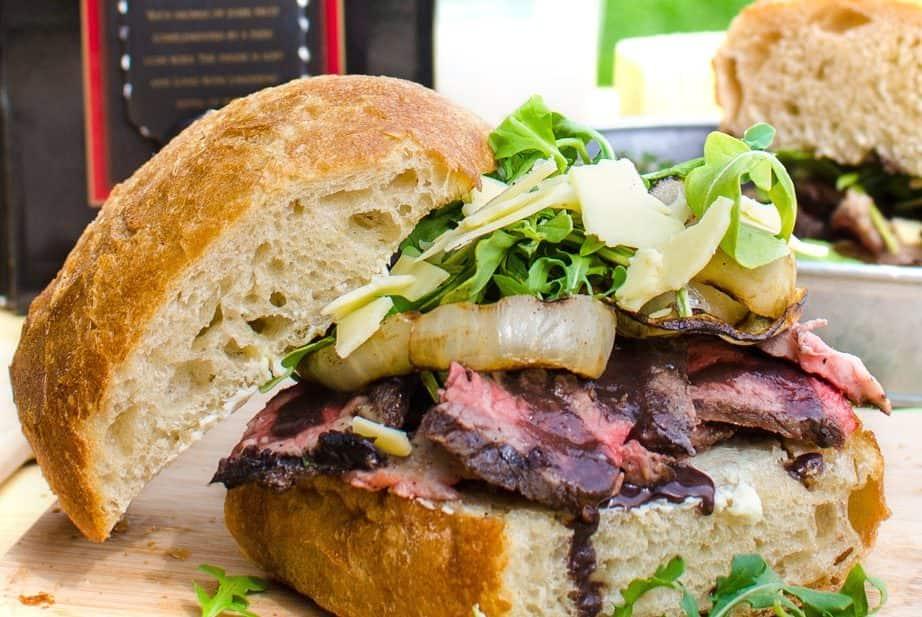 Red Wine Marinated Grilled Steak Sandwich | The Flavor Bender
