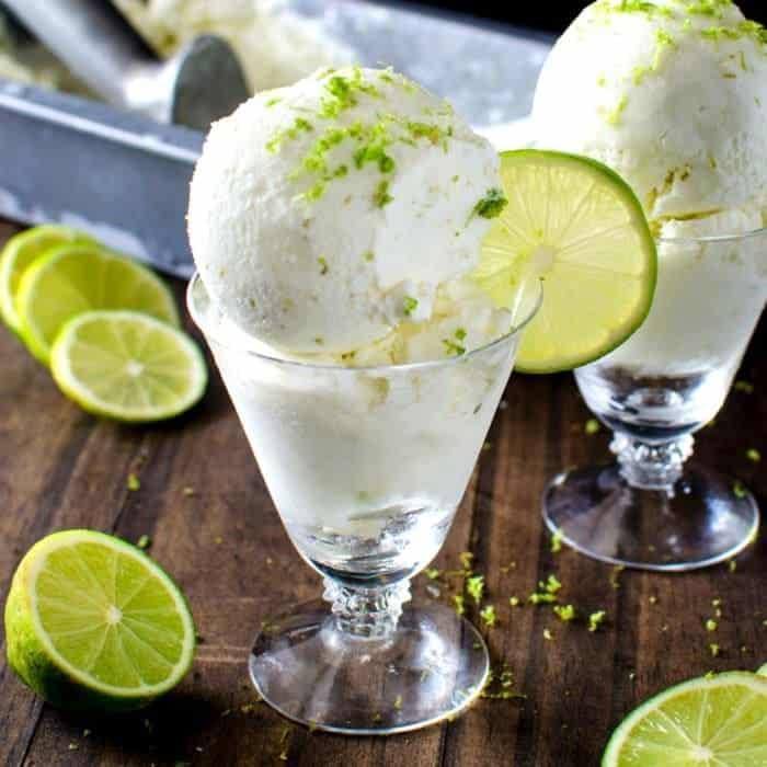 Salted Lime Sherbet { Margarita Ice Cream }