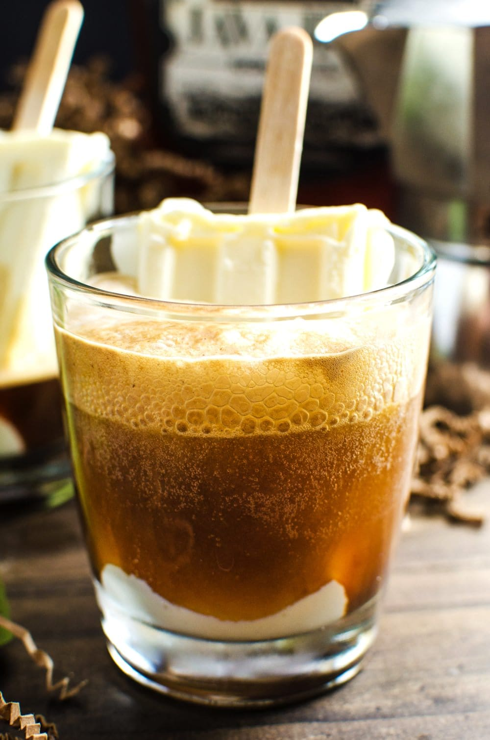 Boozy Iced Coffee Float (Boozy Affogato Float) Give your coffee the ...
