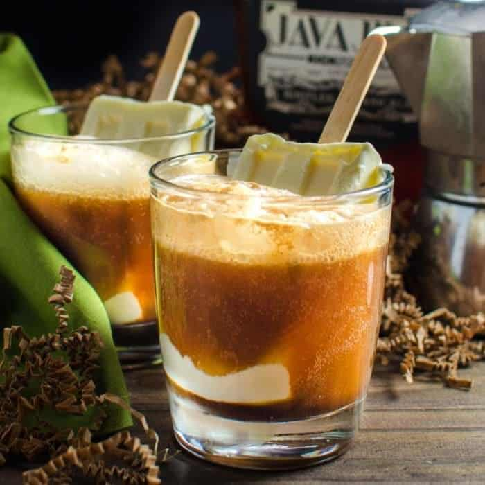 Boozy Iced Coffee Float with Homemade Coffee Liqueur