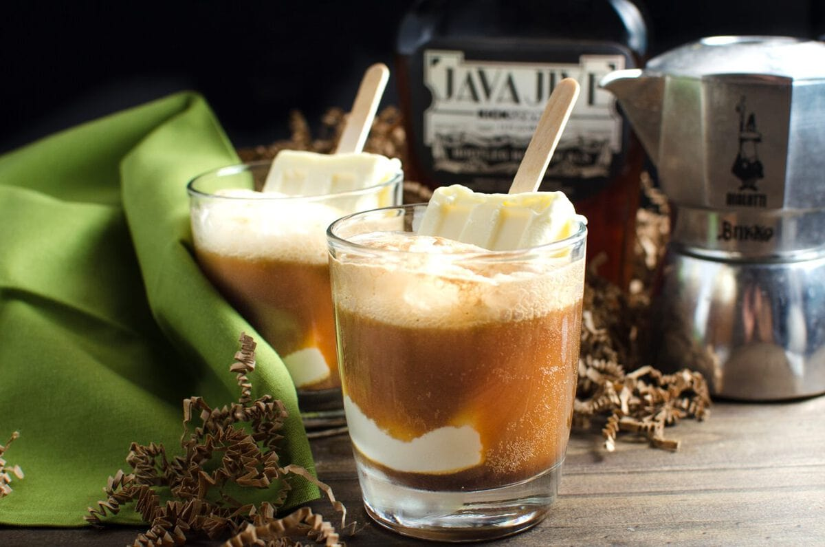 Boozy Iced Coffee Float with Homemade Coffee Liqueur | The Flavor ...