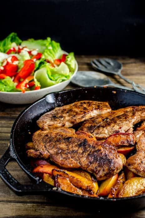 Pan Fried Five Spice Pork And Peaches