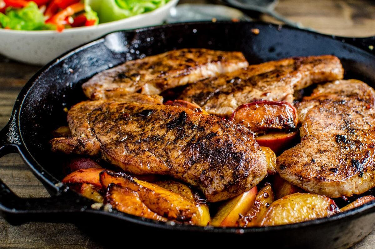 quick and easy, 30 minute meal! Pork chops pan fried with Five Spice ...