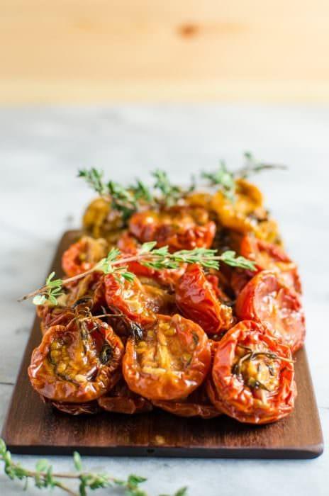 Juicy Slow Roasted Tomatoes