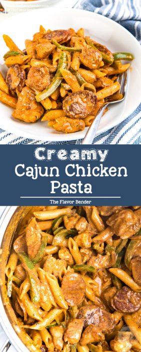 Creamy Cajun Chicken Pasta -cajun-style blackened chicken and penne pasta, and a creamy cajun, tomato pasta sauce! A delicious dinner ready in 30 minutes.#CajunPasta #ChickenPastaRecipes #PastaRecipes