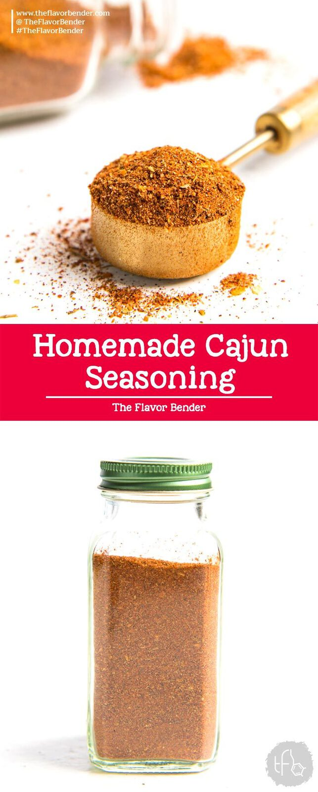 Cajun Seasoning Recipe - An easy and simple Cajun seasoning recipe that can be made in minutes with spices you can already find in your pantry. Smokey, spicy, and herby, it will make all your Cajun dishes taste even better! #CajunSeasoningRecipe #SpiceMixes #EasyRecipes