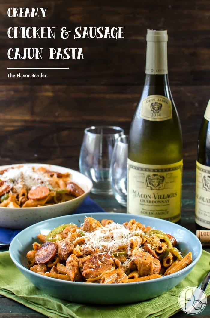 Creamy chicken and sausage cajun pasta the flavor bender creamy chicken and sausage cajun pasta a spicy herby peppery and unabashedly flavourful forumfinder Images