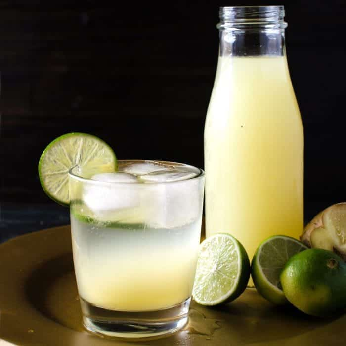 Homemade Ginger Limeade