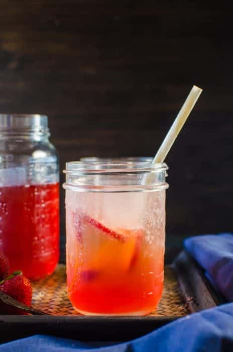 Vanilla Strawberry Shrub Syrup