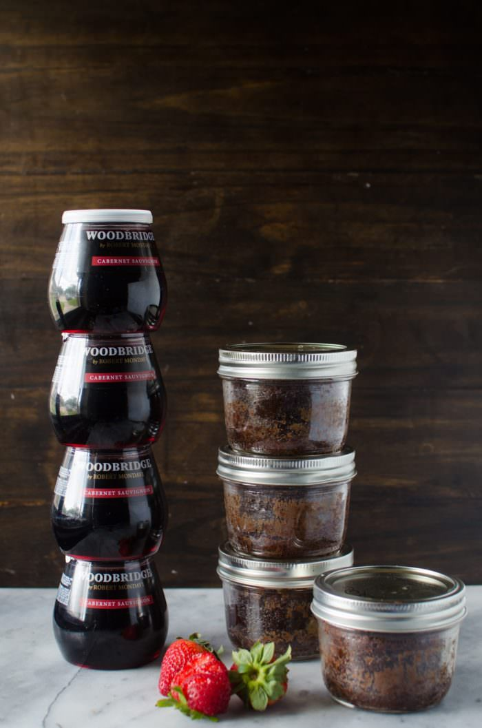 Fudgy Flourless Chocolate Cake In A Jar - these will impress you with its deliciously intense chocolate flavor, versatility and simplicity! A rich, decadent chocolate dessert that's fudgy in the middle and crisp on the outside, and studded with toasted pecans for another depth of flavor and texture. Very portable and perfect for any type of entertaining, including tailgating parties!