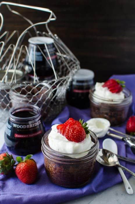 Fudgy Flourless Chocolate Cake In A Jar