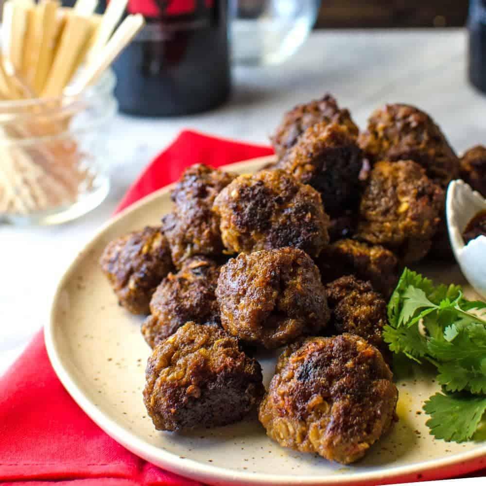 Indonesian Beef Meatballs - The Flavor Bender