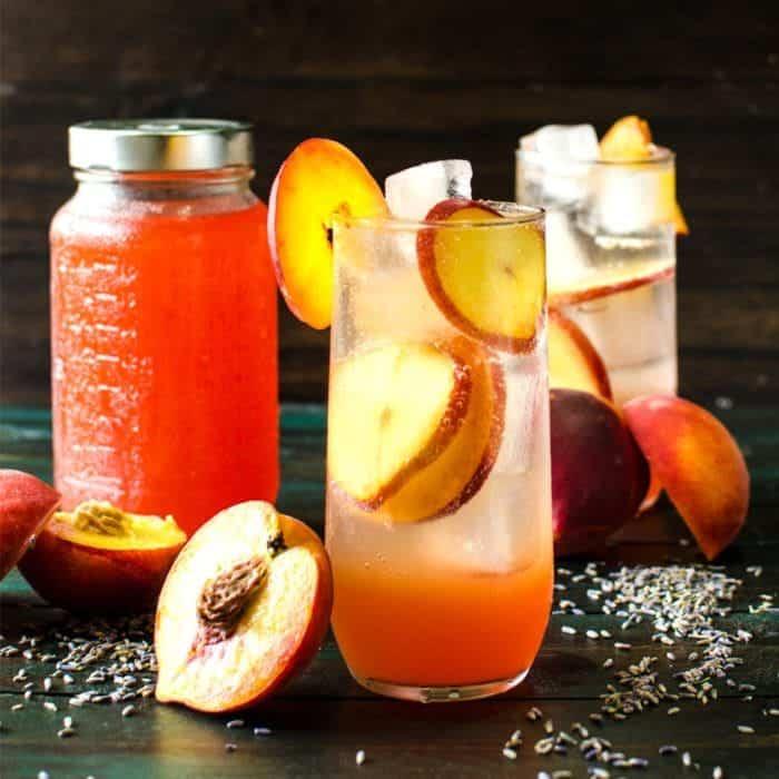 Lavender Peach Shrub Syrup (#ForFoodAgainstHunger)