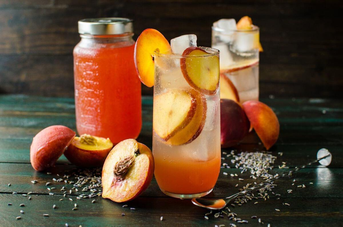 Lavender Peach Shrub Syrup (#ForFoodAgainstHunger) - The Flavor Bender