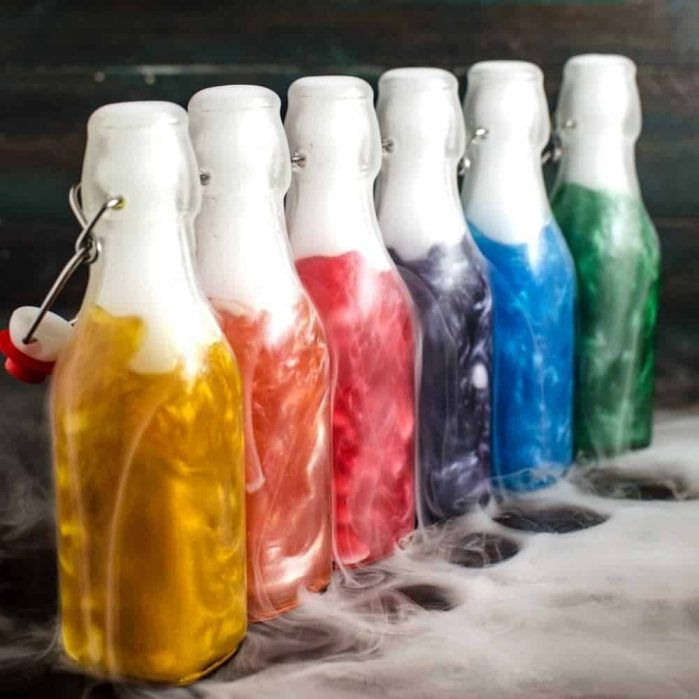 Shimmery Liqueur In a row in different colors