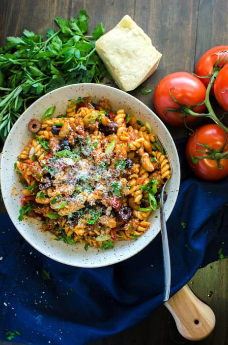 Spicy Sausage Tuscan Pasta (Plus a Giveaway!)