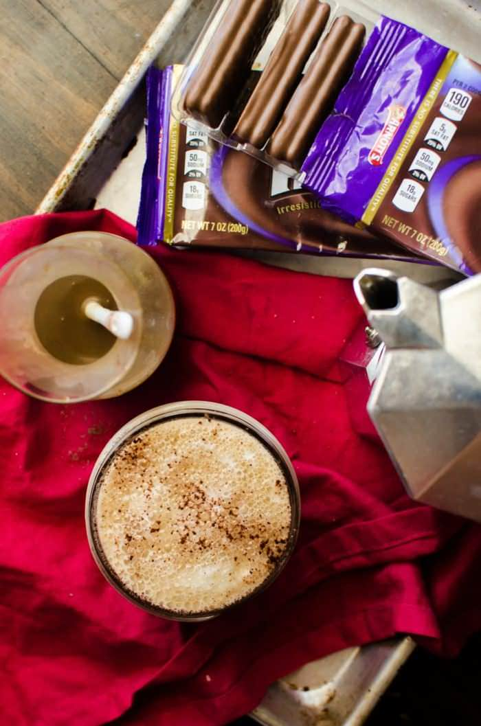 Mini Salted Butterscotch Latte with a Tim Tam Slam - Bring some seasonal indulgence with this easy Butterscotch latte and enjoy it with an Aussie classic - The Tim Tam Slam! Get the tips to get the most out of and make the best Tim Tam Slams!